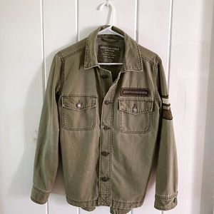 American Eagle Green Army Jacket